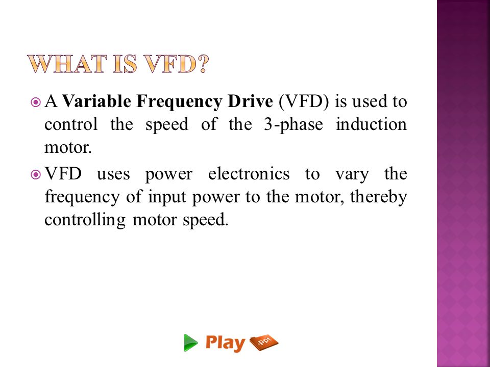 Speed Control Of Three Phase Induction Motor With Energy