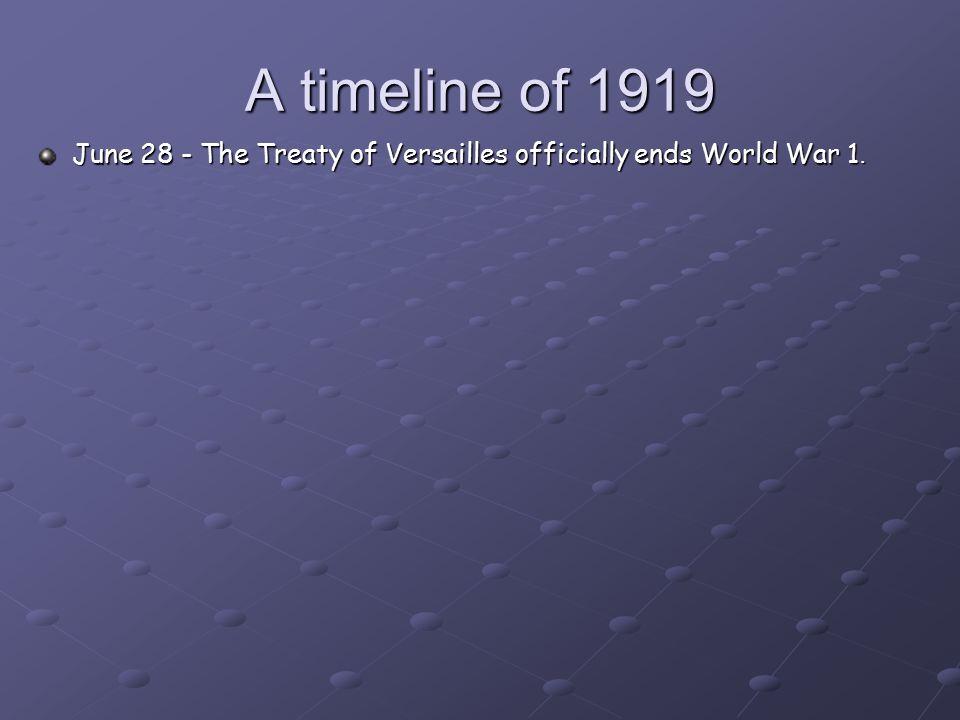 world war 1 timeline pdf