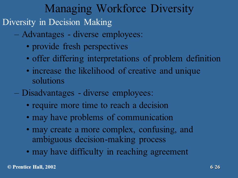 """disadvantages workforce diversity Here are seven multicultural workplace benefits, from serious  """"i think the languages spoken in the office are core to our diversity and."""