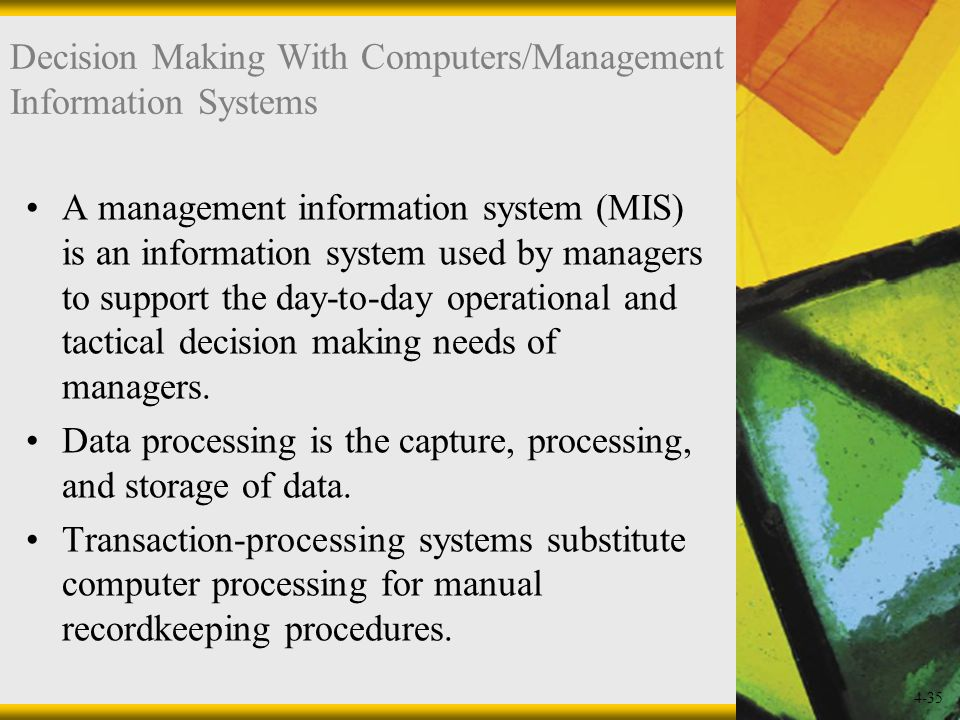 Devising a perfect management system