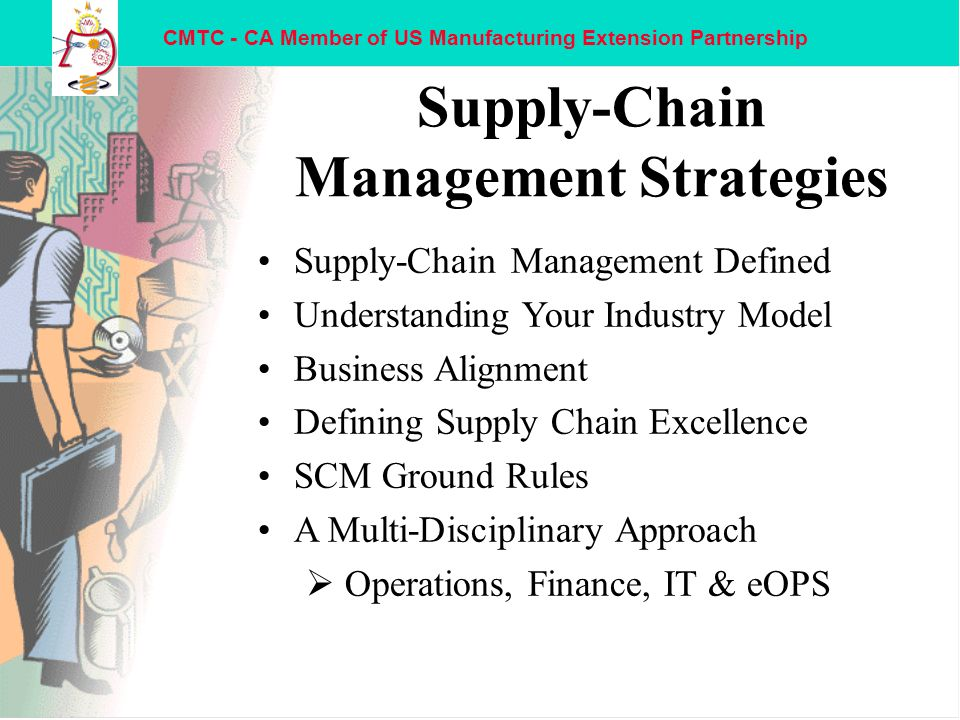 operations management supply chain strategies Management/ operations and supply chain management is defined as the designing, operation.