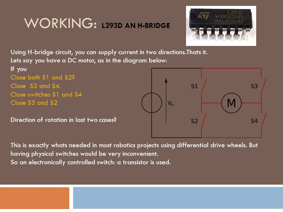 working%3A+L293D+an+h Bridge essentials of motors and motor driver ppt download  at alyssarenee.co