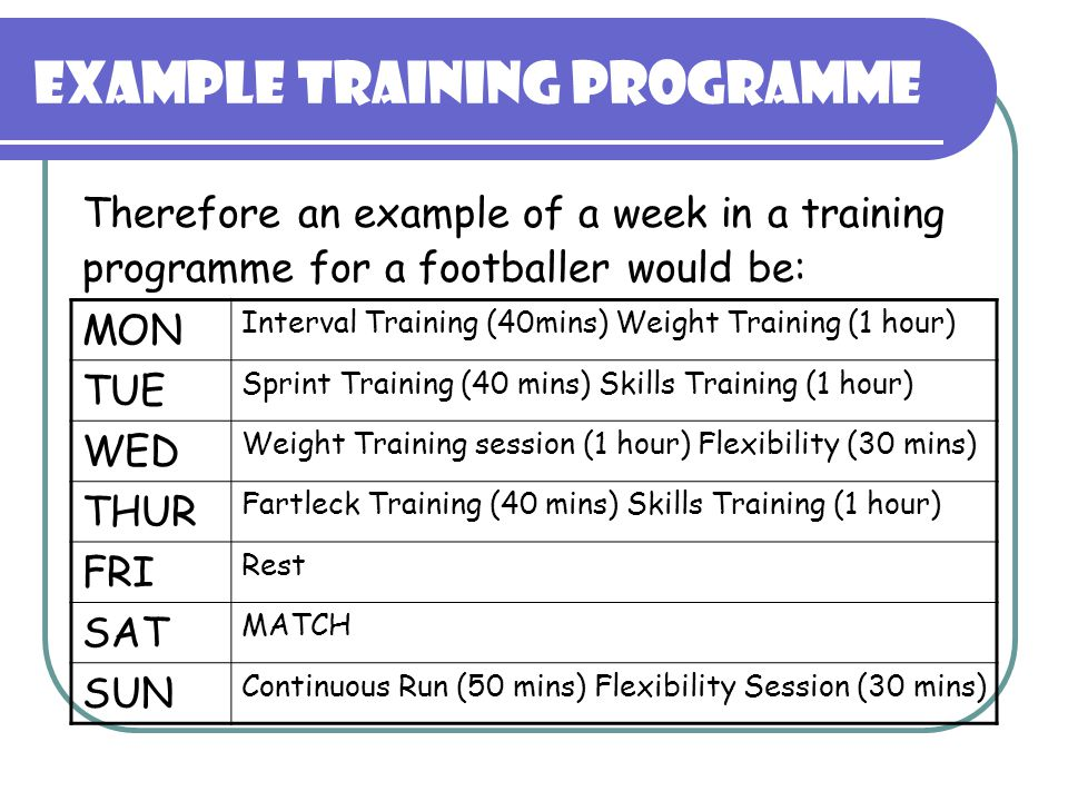 MAKING A TRAINING PROGRAMME