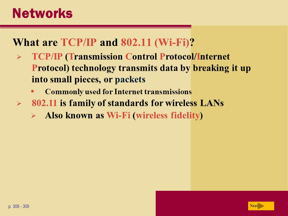 Networks What are TCP/IP and (Wi-Fi)