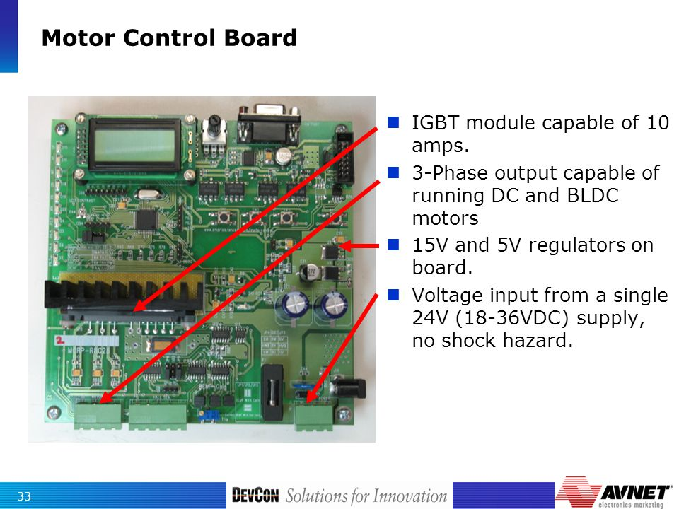 Id 610c introduction to bldc motor control ppt download for 10 amp motor controller