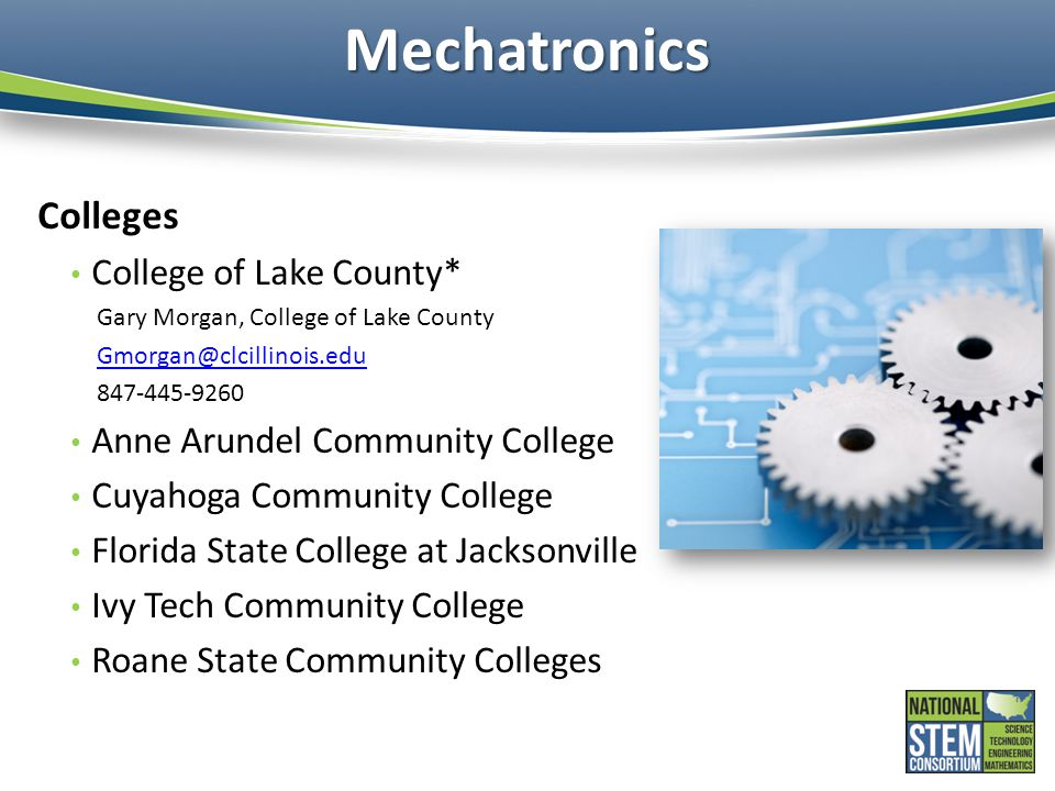 Mechatronics Colleges College of Lake County*