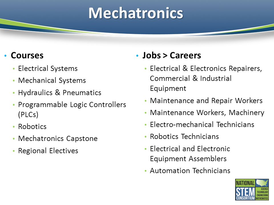 Mechatronics Courses Jobs > Careers Electrical Systems