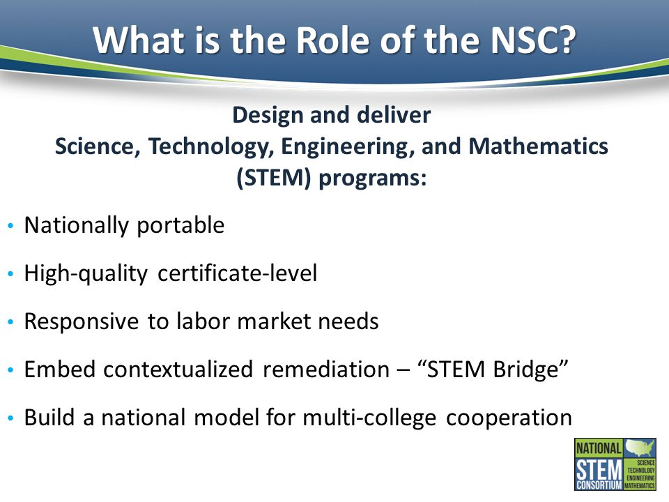 What is the Role of the NSC