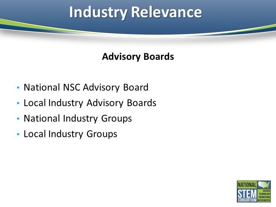 Industry Relevance Advisory Boards National NSC Advisory Board