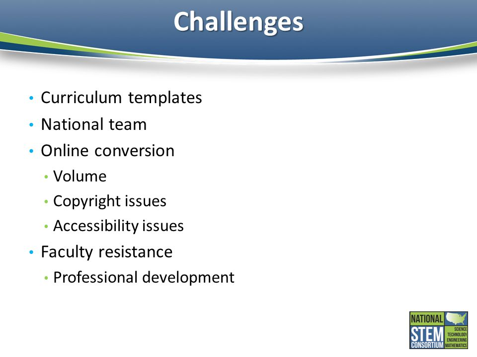 Challenges Curriculum templates National team Online conversion