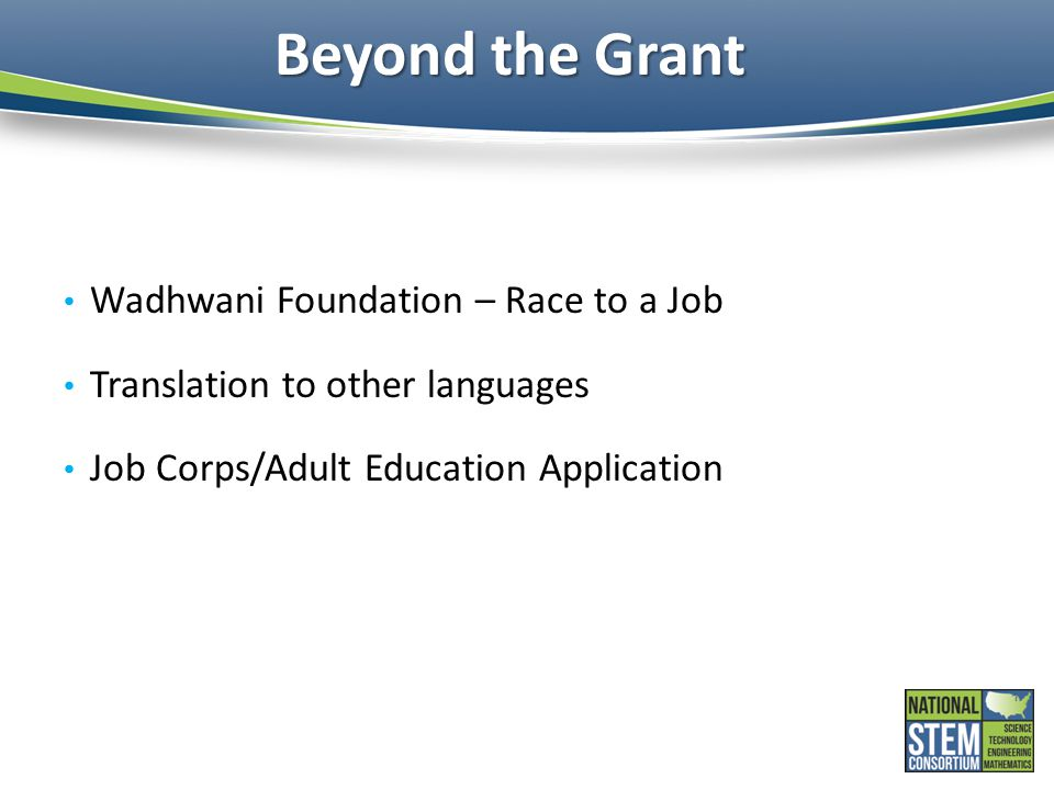 Beyond the Grant Wadhwani Foundation – Race to a Job