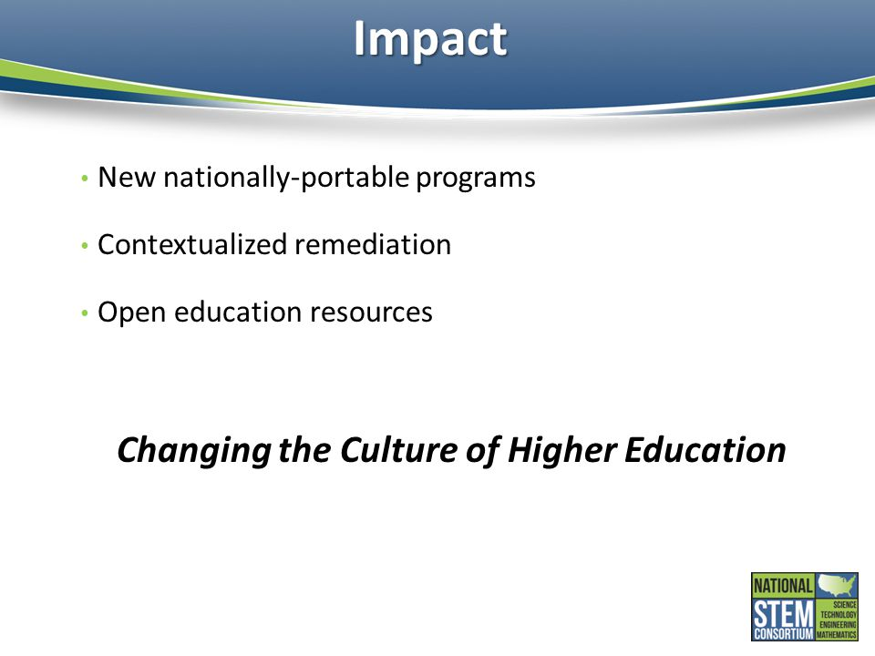 Changing the Culture of Higher Education