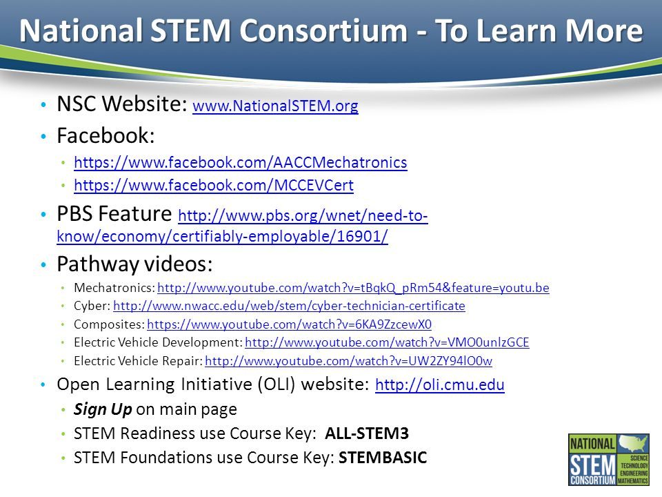 National STEM Consortium - To Learn More