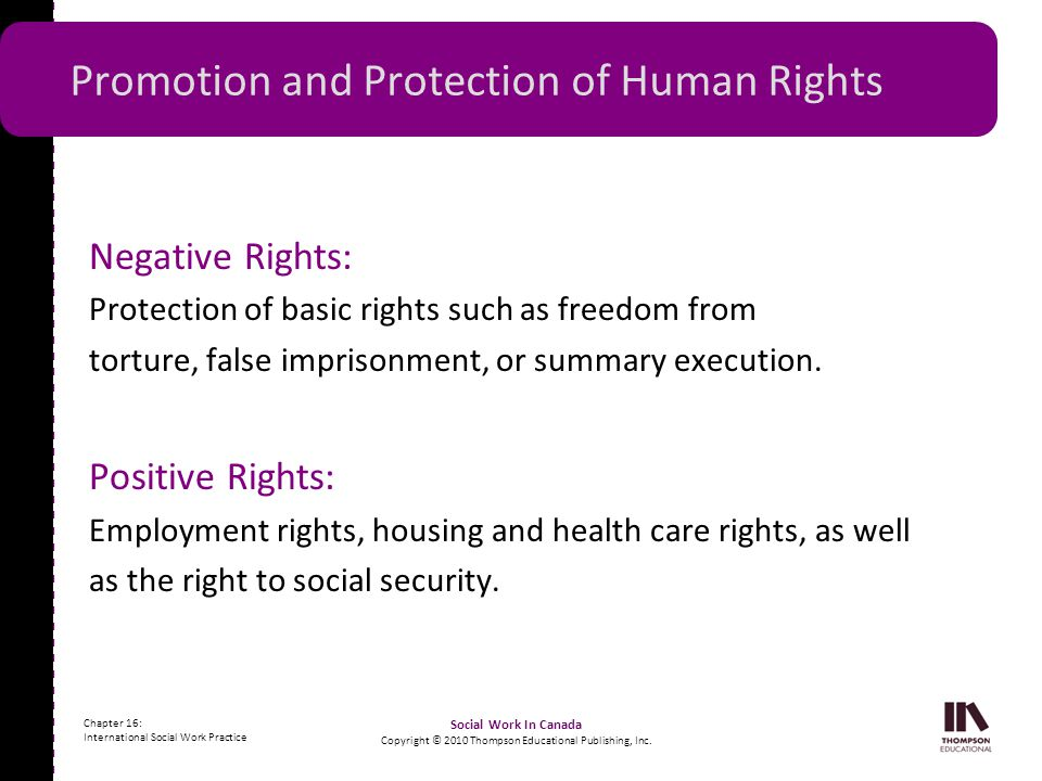 promotion and protection right of labor Human rights constitute a set of rights and duties necessary for the protection of human dignity, inherent to all human beings, irrespective of nationality, place of residence, sex, national or ethnic origin, colour, religion, language, or any other status.