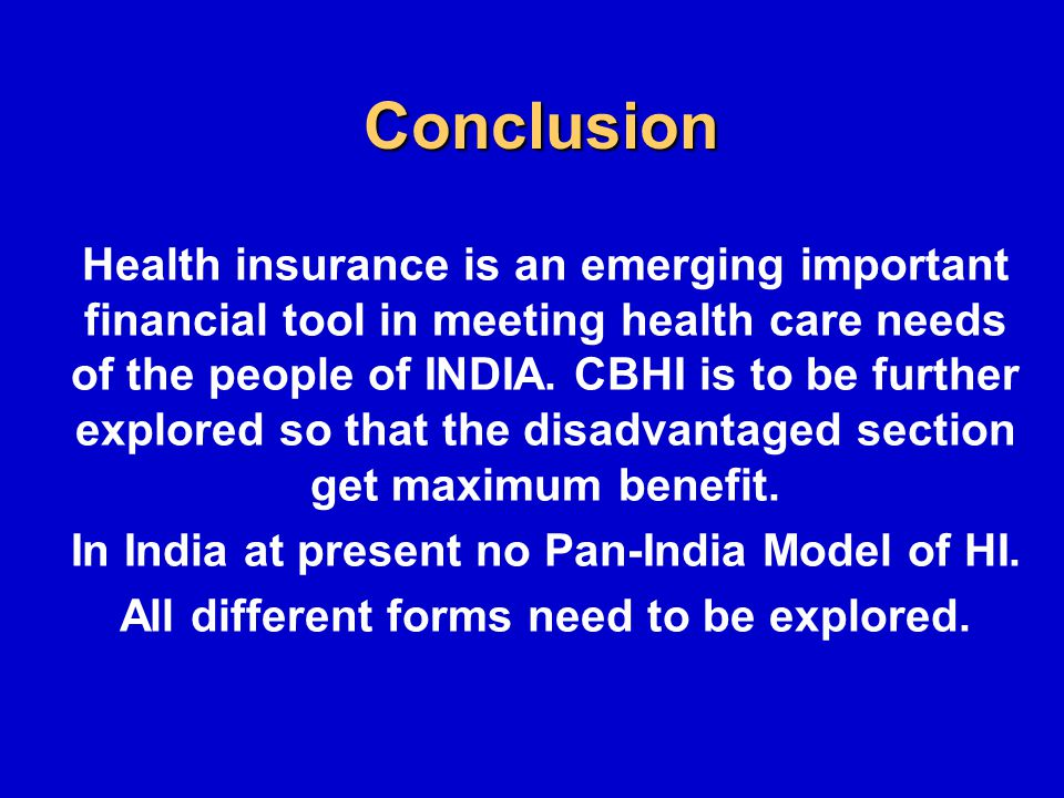 Health Insurance In India Ppt Download