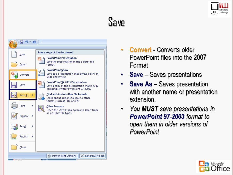 Powerpoint template extension 2003 choice image powerpoint powerpoint 2003 vs 2007 whats the difference ppt download save convert converts older powerpoint files into toneelgroepblik Image collections