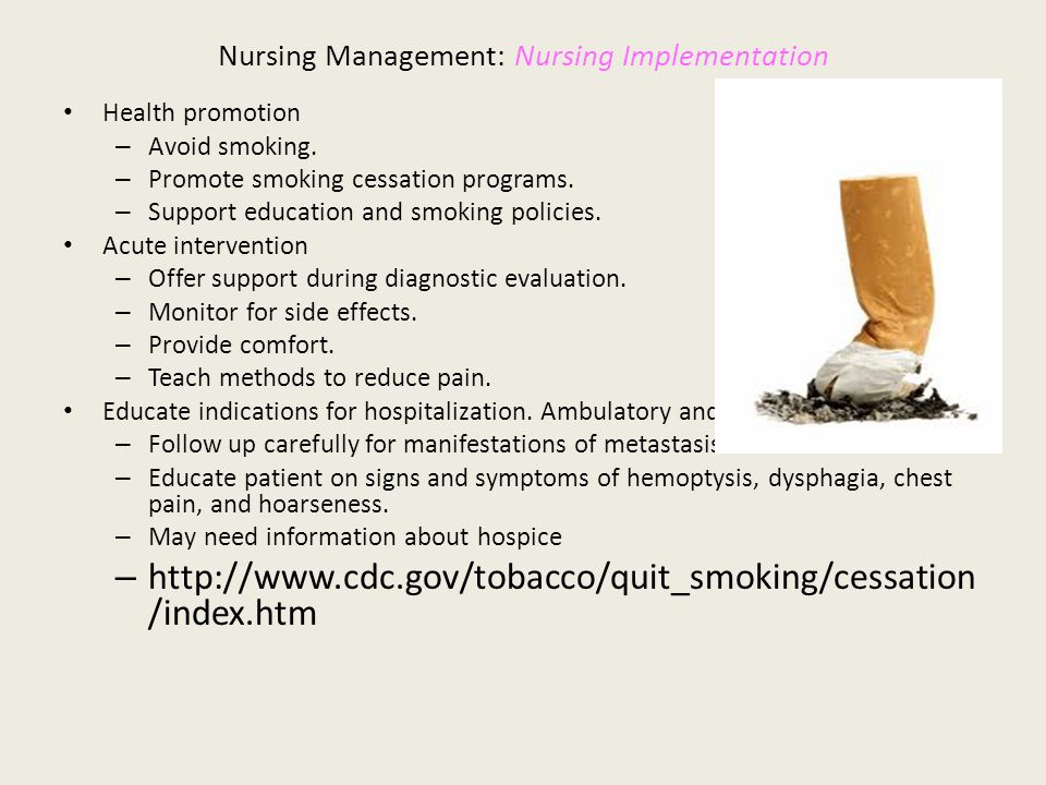 Does support and intervention from nurses help people to stop smoking?