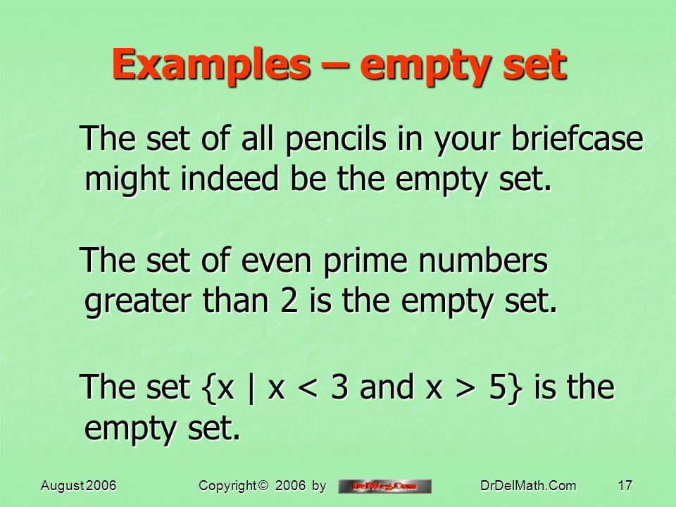 how to write empty set