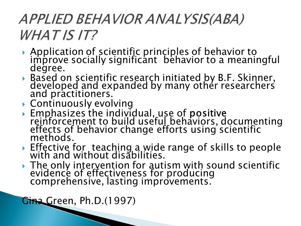research methods in applied behavior analysis pdf