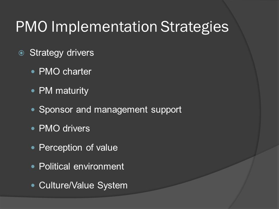 project management implementation strategies Journal of business strategy project management: key tool for implementing strategy andrew longman partner and director of marketing and product development at.