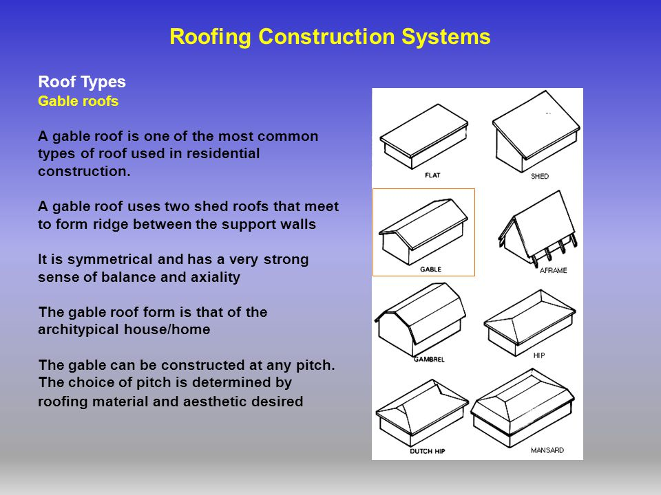 Roofing Construction Systems