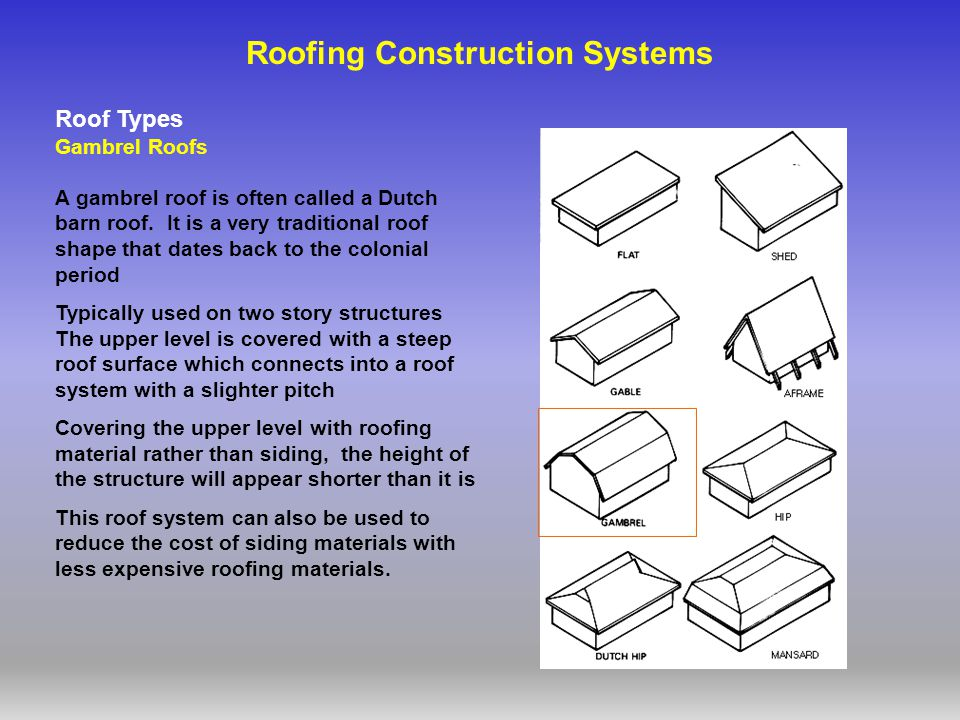 Roof systems references ppt video online download for Most expensive roof material