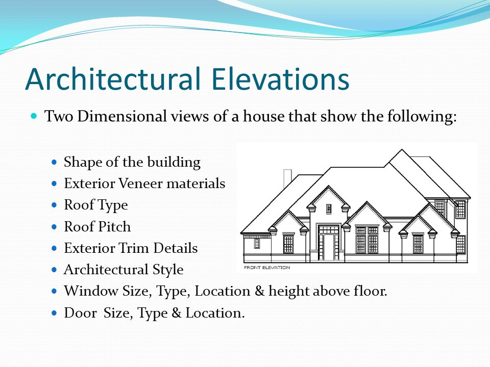 2 Architectural Elevations