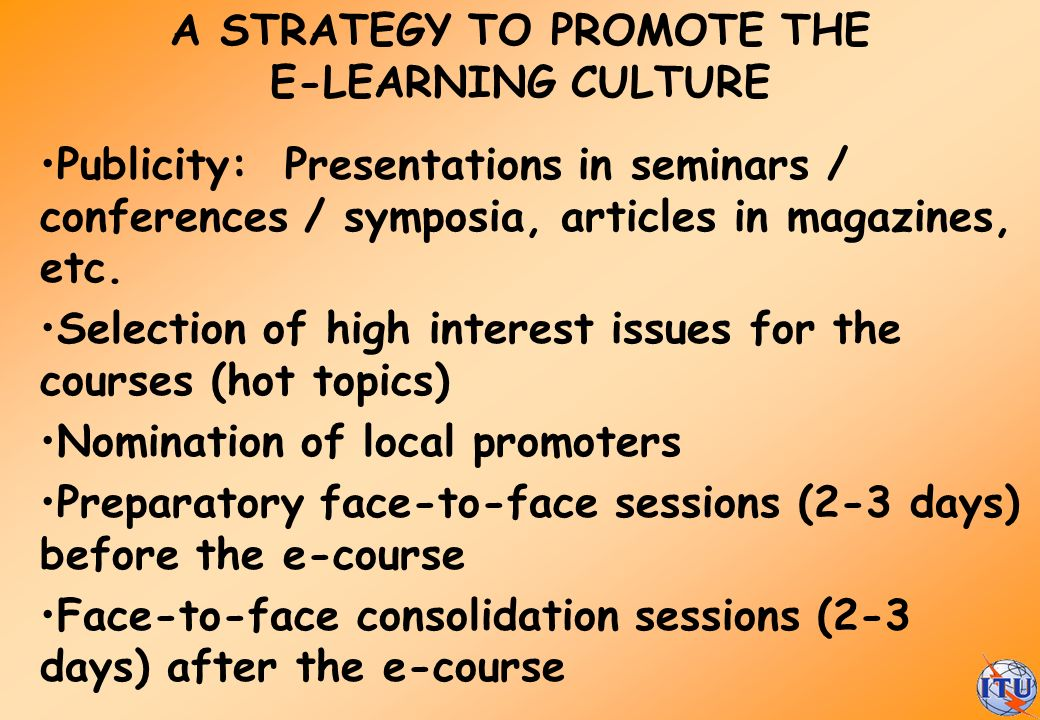 A STRATEGY TO PROMOTE THE