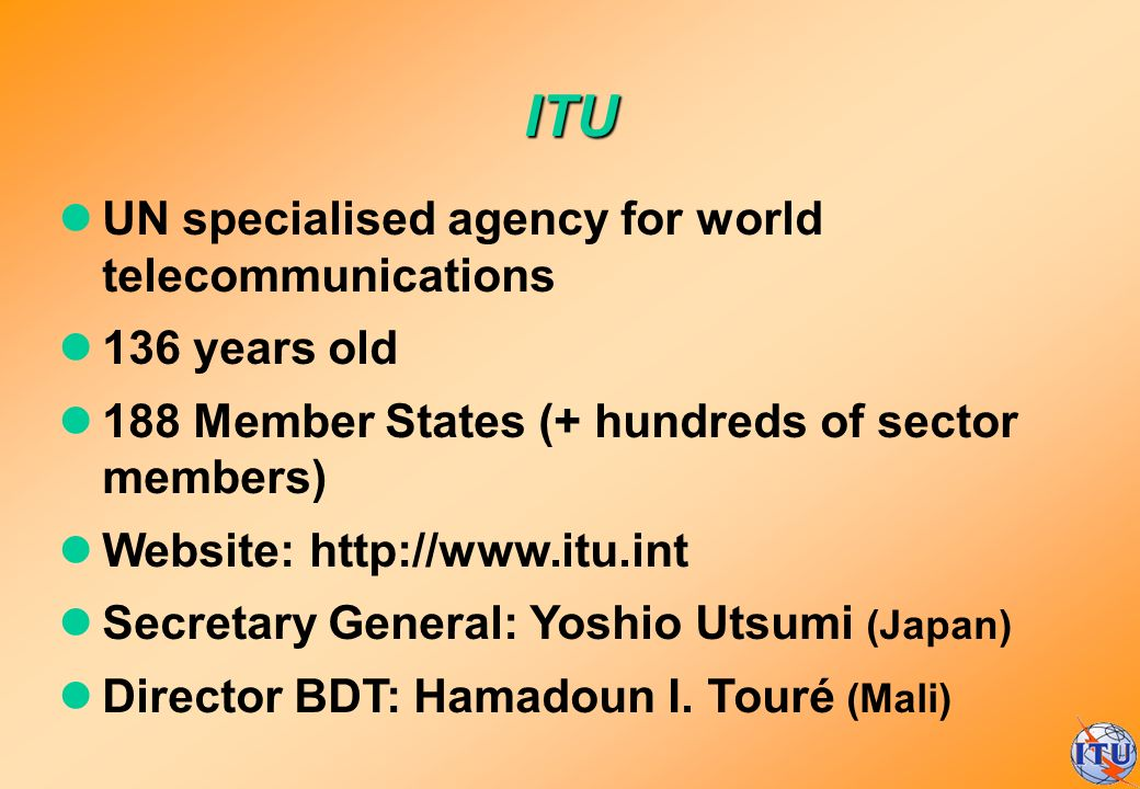 ITU UN specialised agency for world telecommunications 136 years old