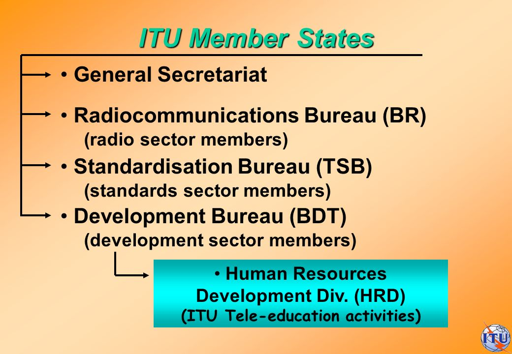 Human Resources Development Div. (HRD) (ITU Tele-education activities)
