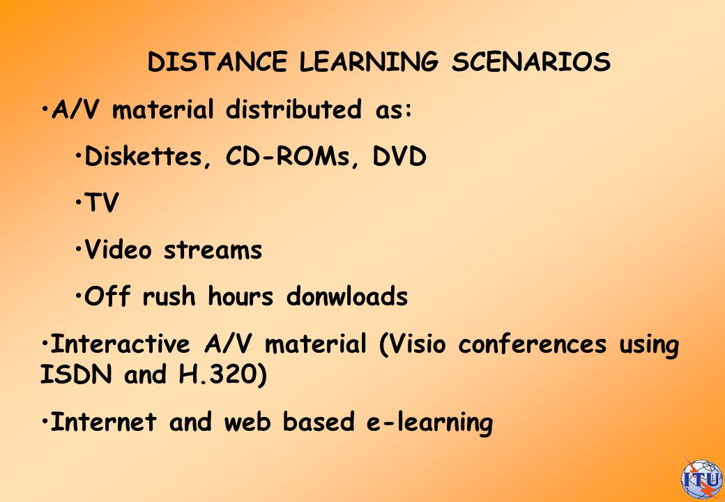 DISTANCE LEARNING SCENARIOS