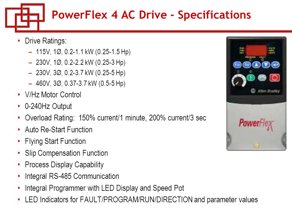 course w 53 powerflex ac drives ppt powerflex 4 ac drive specifications