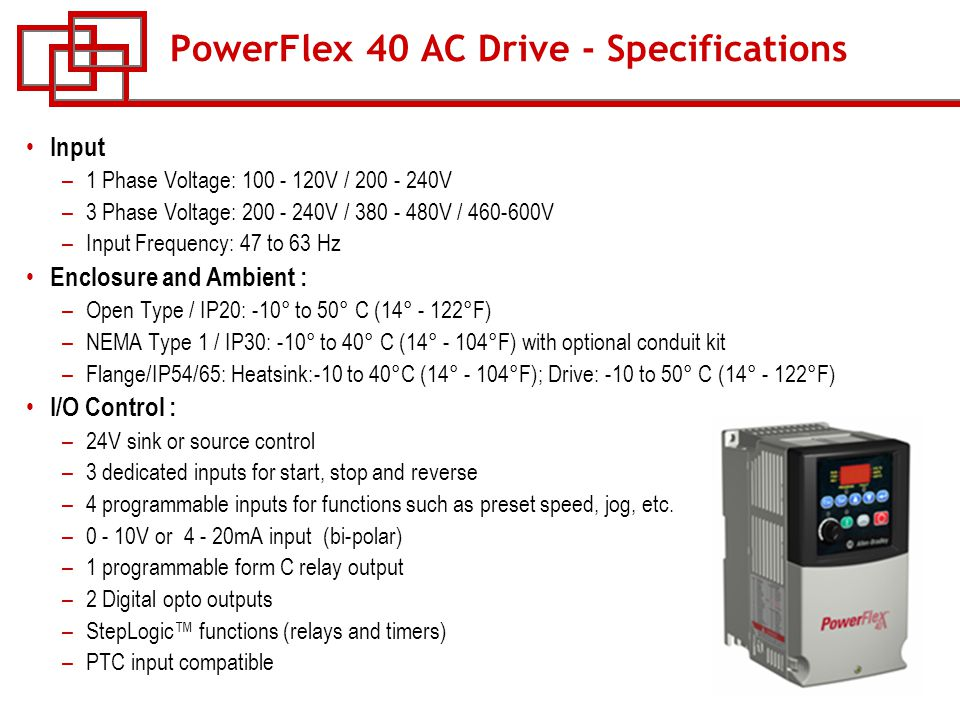 PowerFlex+40+AC+Drive+ +Specifications course w 53 powerflex ac drives ppt download powerflex 40 wiring diagram at creativeand.co