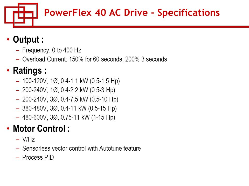 course w 53 powerflex ac drives ppt download Powerflex 40 Wiring Diagram powerflex 40 ac drive specifications powerflex 40 wiring diagram
