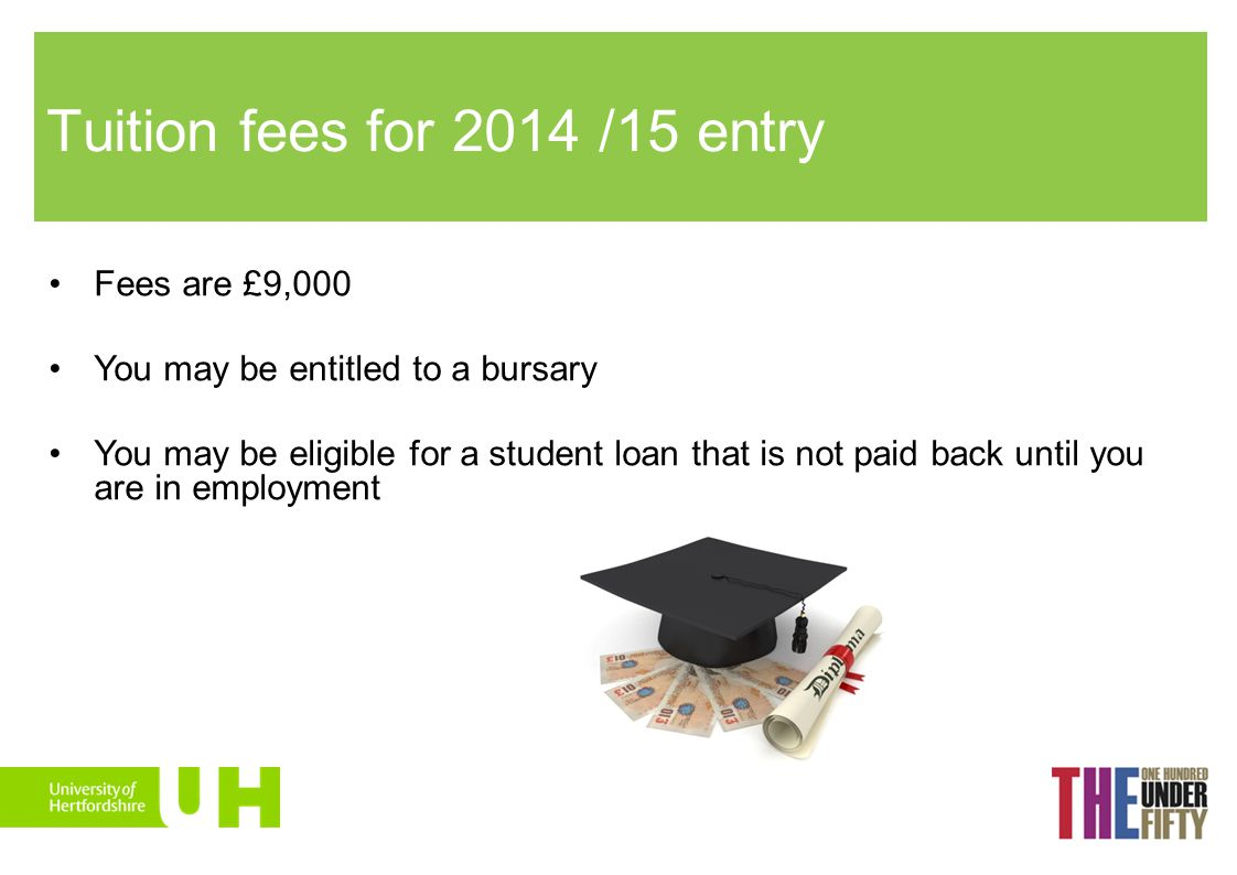 Tuition fees for 2014 /15 entry