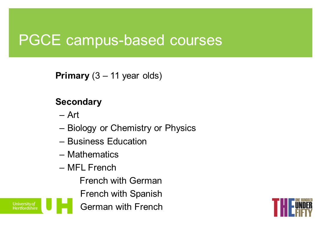 PGCE campus-based courses