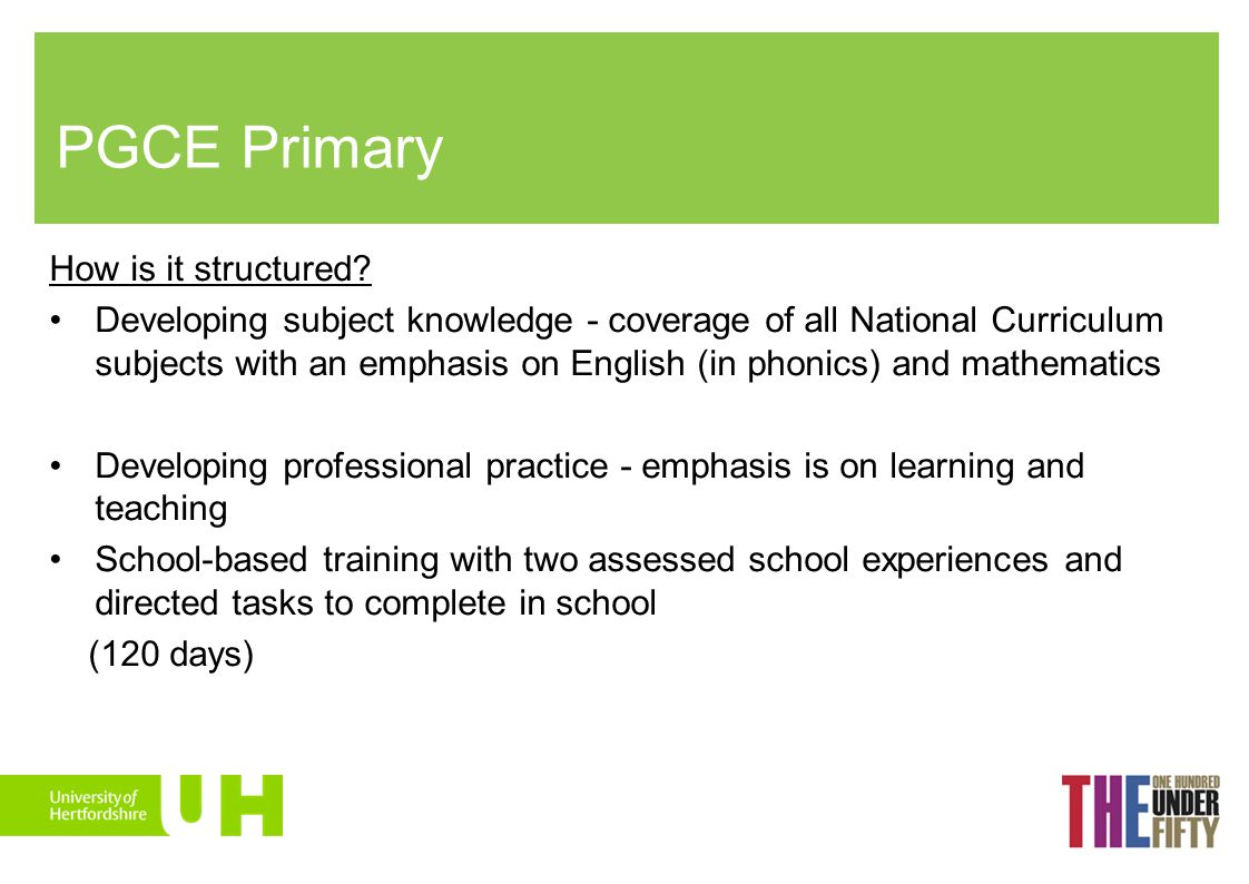 PGCE Primary How is it structured