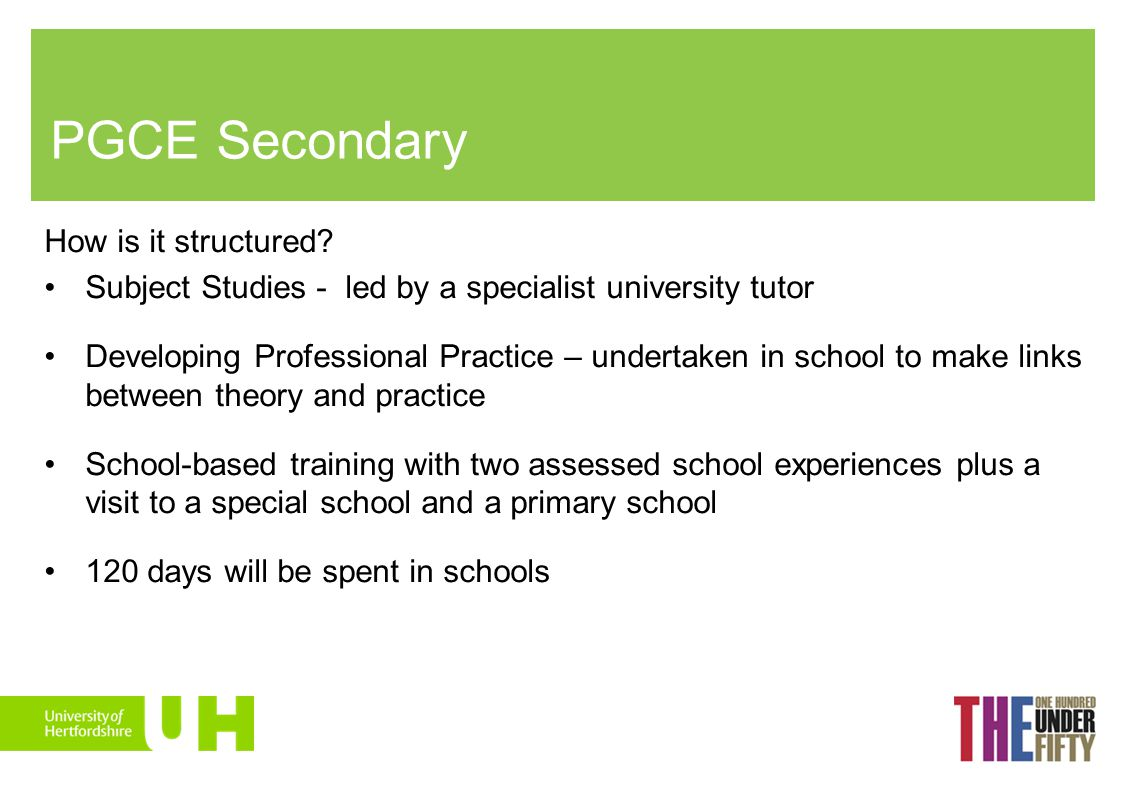 PGCE Secondary How is it structured