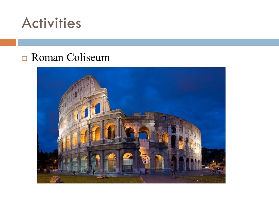 an examination of the roman coliseum Built in 70 ad, rome's coloseum has been the site of celebrations, sporting  events and bloodshed today, it's a major tourist attraction, playing host to 39.