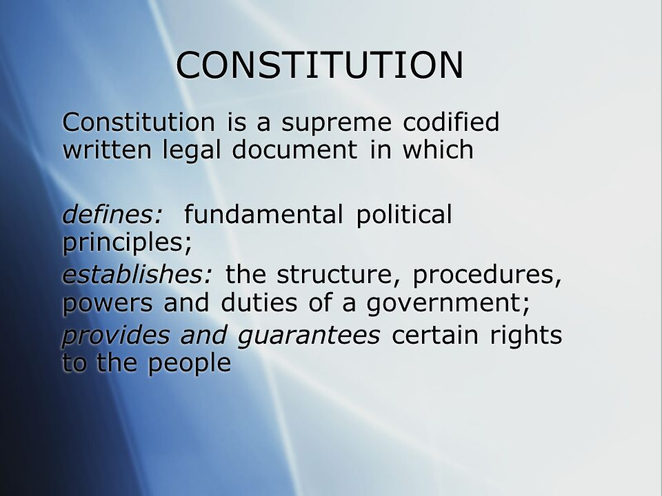 constitution law vocab Bill, a proposed law presented to the legislature for consideration bill  books  in the senate a constitutional majority is 25 in the house it is 50  convene.