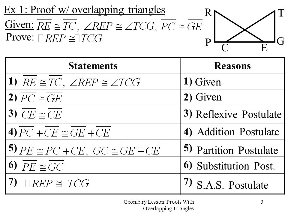 statements and reasons in geometry triangles