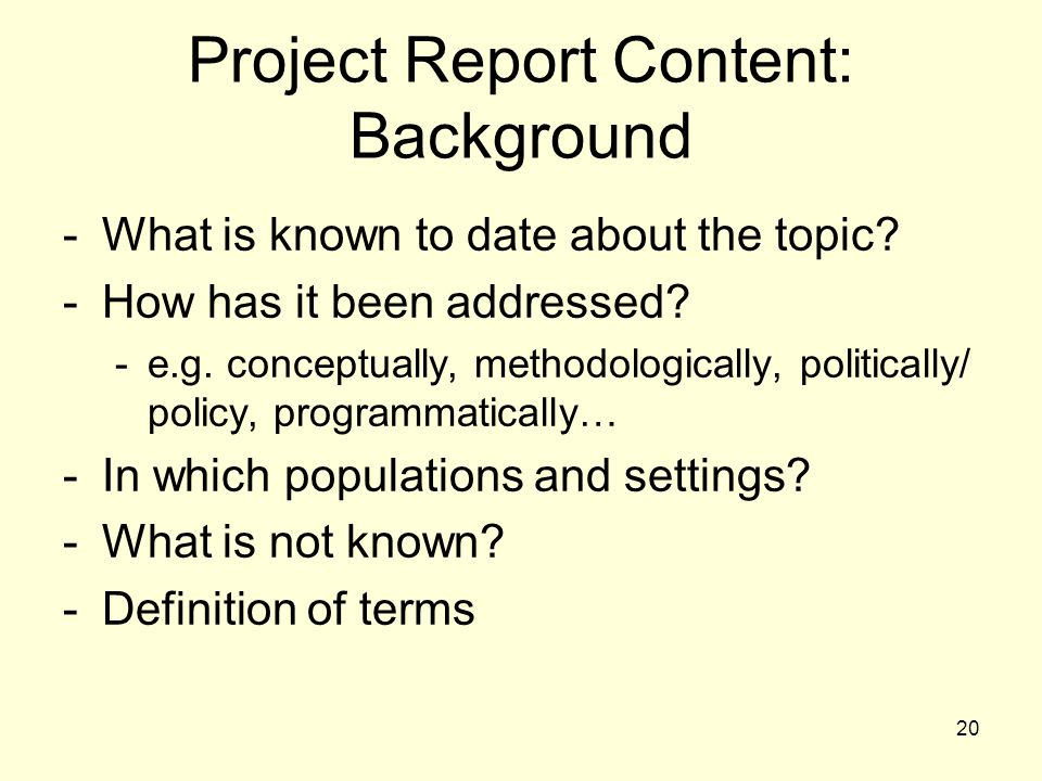 definition of the project background Define background background synonyms, background pronunciation, background translation, english dictionary definition of background n 1 the ground or scenery .
