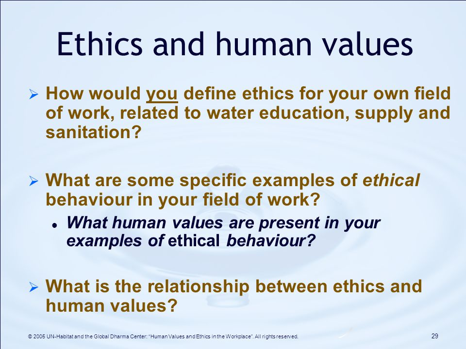 paper on ethics in the workplace