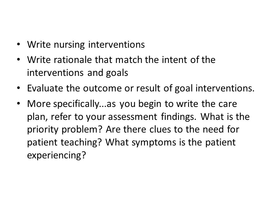 how to write evaluation in nursing care plan