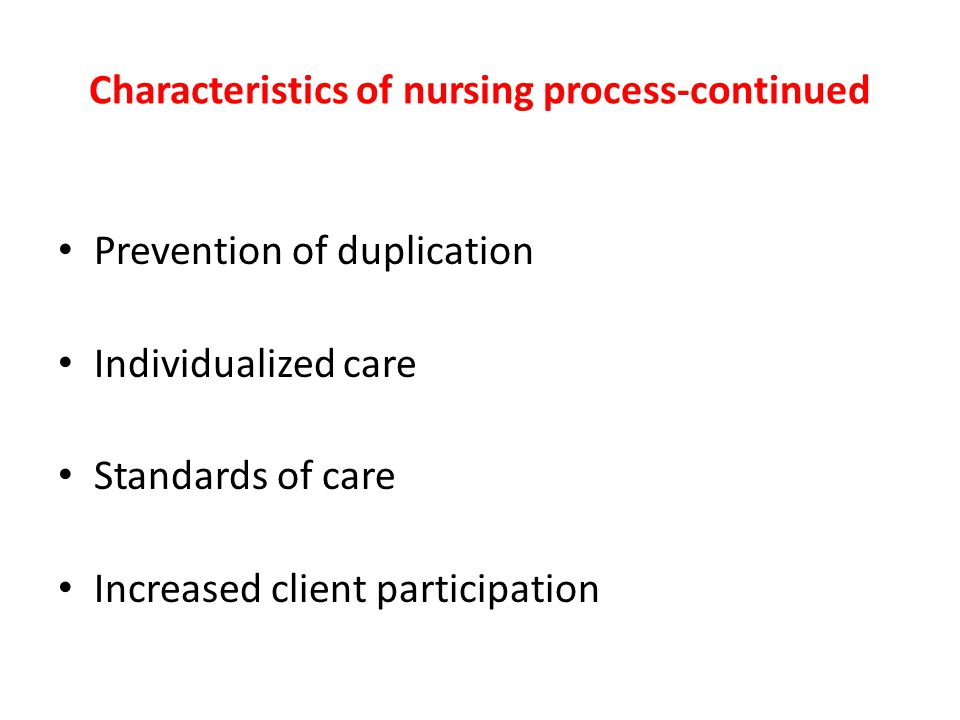 Professional characteristics of nursing and the