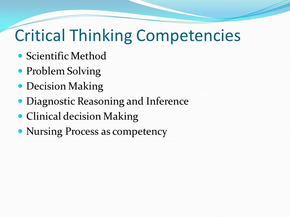 critical thinking competency answers Free critical thinking test questions booklet assessmentday read the instructions preceding each section and answer the questions there are a total of.