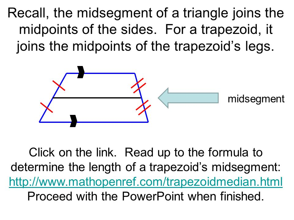 65 trapezoids a d b c a trapezoid a quadrilateral with ppt 7 proceed ccuart Choice Image