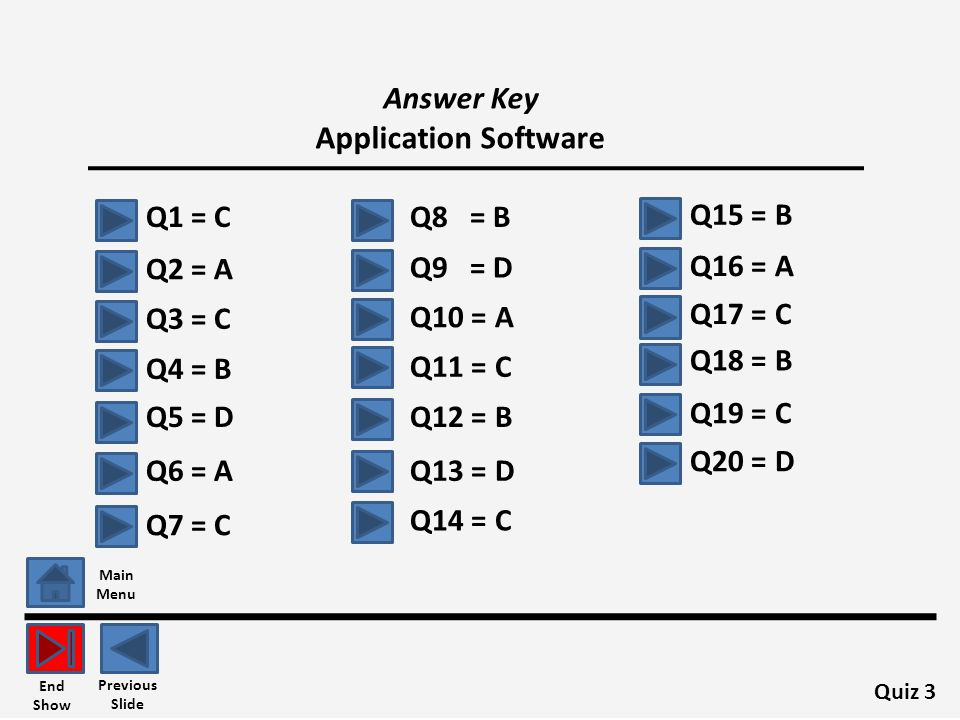 Answer Key Application Software