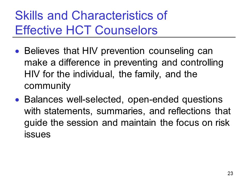 personal characteristics of counselors Also emphasized the attitudes and personal characteristics of the therapist and  the  person-centred therapists believe that clients are capable and trustworthy.
