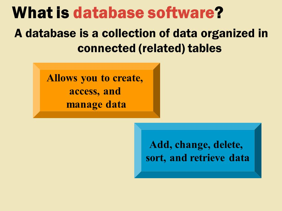 What is database software